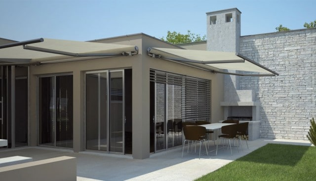 Klip Folding Arm Awnings - Curtains Newcastle - Somerset Curtains & Blinds Newcastle