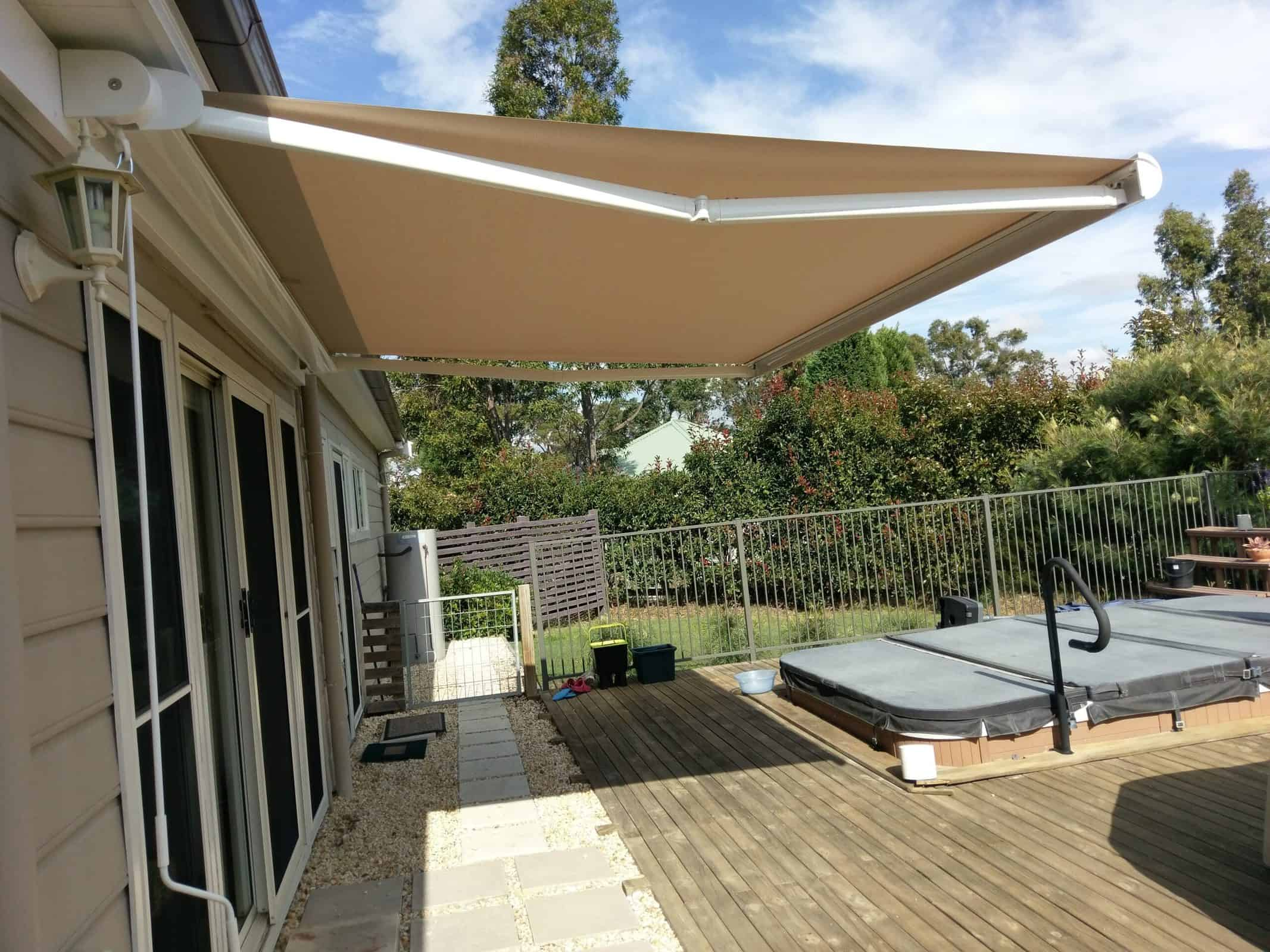 Folding Arm Awnings - Curtains Newcastle - Somerset Curtains & Blinds Newcastle