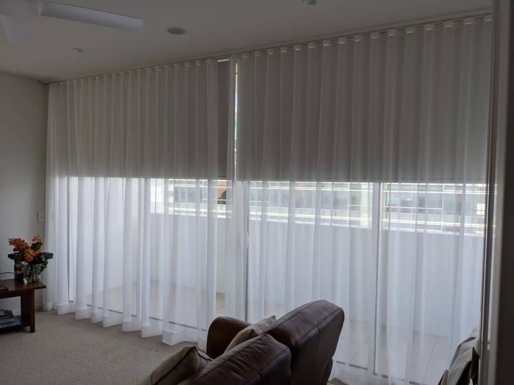 Sheer lounge - S-Wave/S-Fold - Curtains Newcastle - Somerset Curtains & Blinds Newcastle